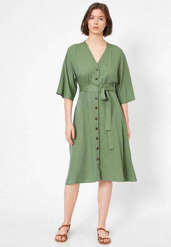 женское повседневные платье koton, зеленое