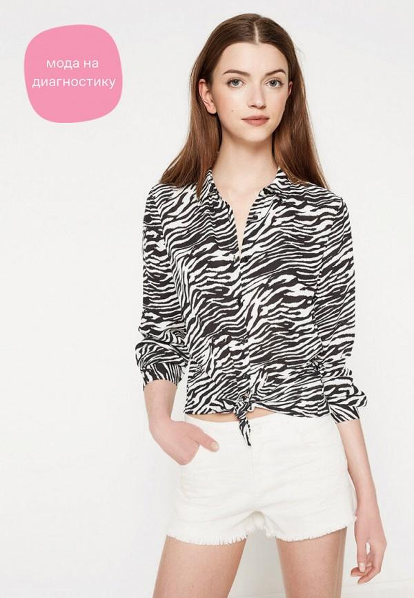 женская блузка с длинным рукавом koton, черная