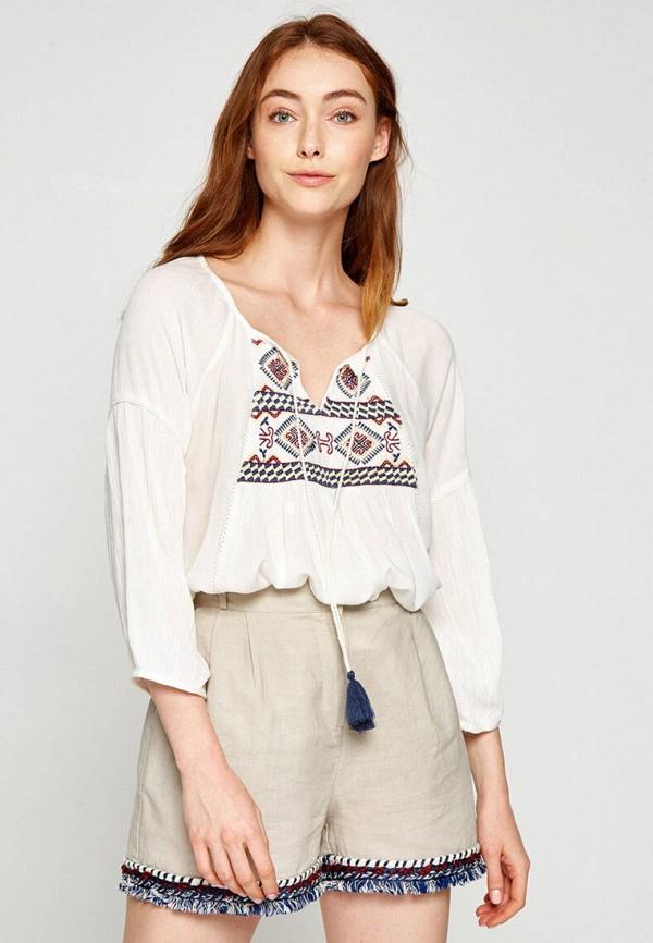 женская блузка с длинным рукавом koton, белая