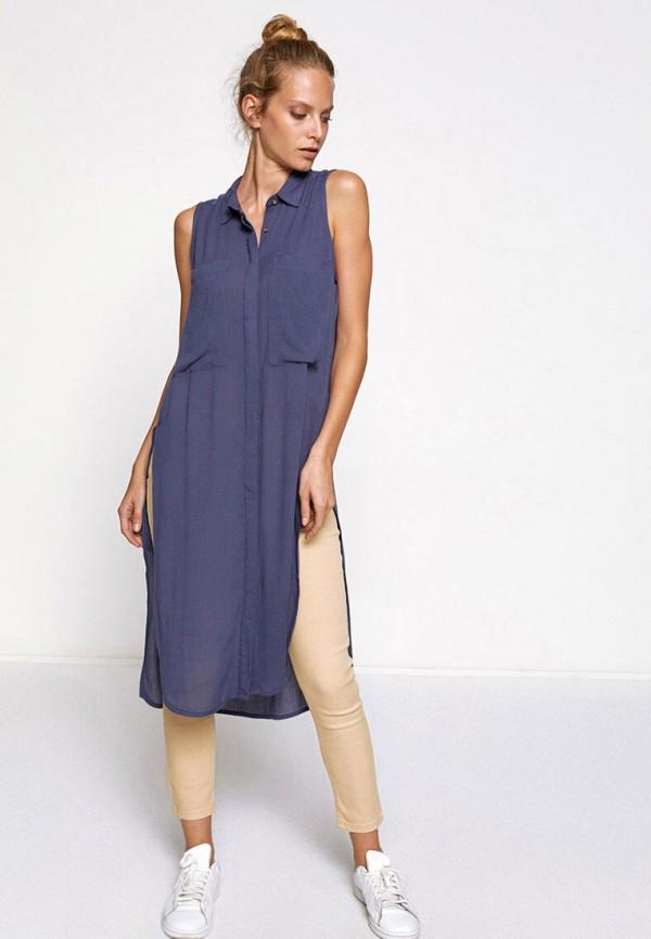 женская туника koton, синяя