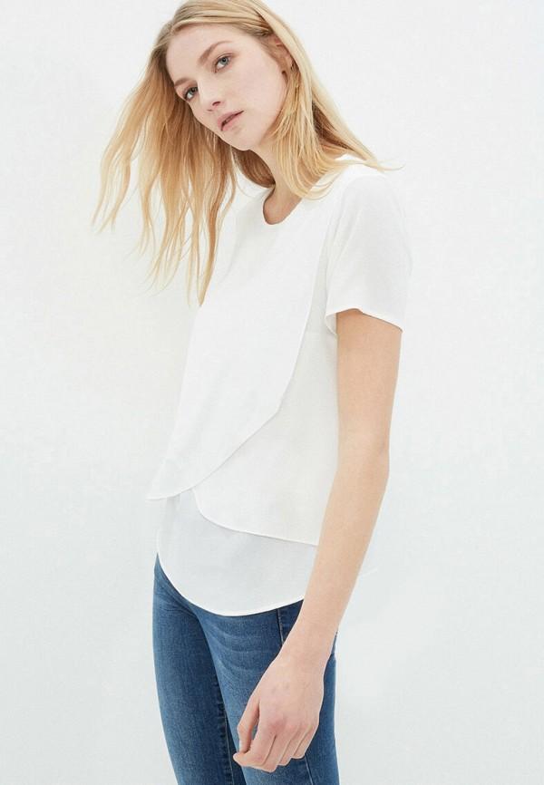 женская блузка с коротким рукавом koton, белая