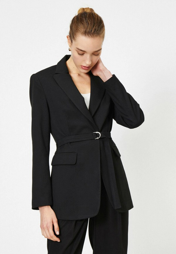 женский пиджак koton, черный