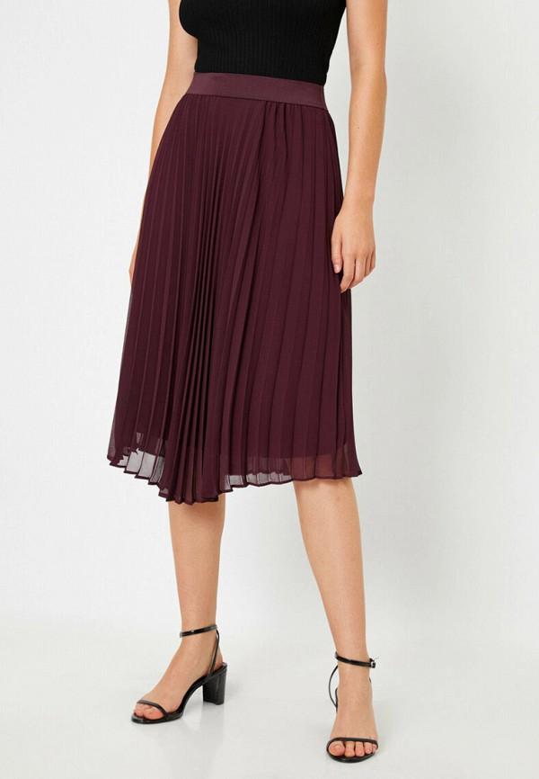 женская юбка koton, бордовая