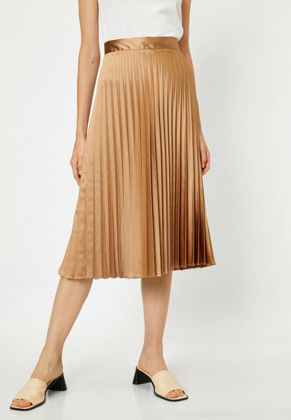 женская юбка koton, бежевая