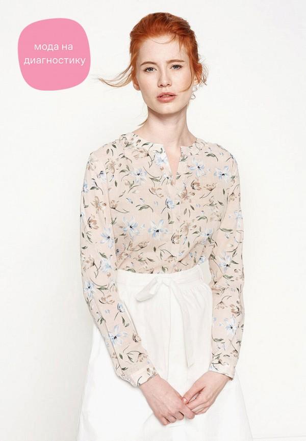 женская блузка с длинным рукавом koton, бежевая