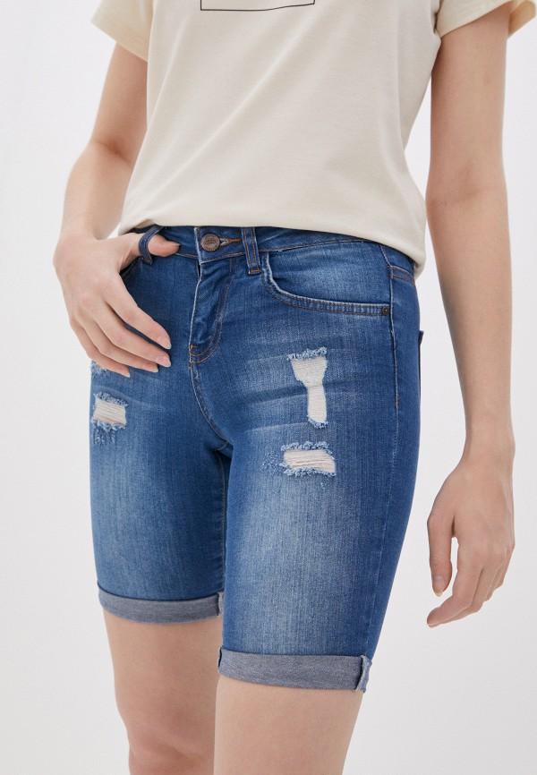 женские джинсовые шорты koton, синие