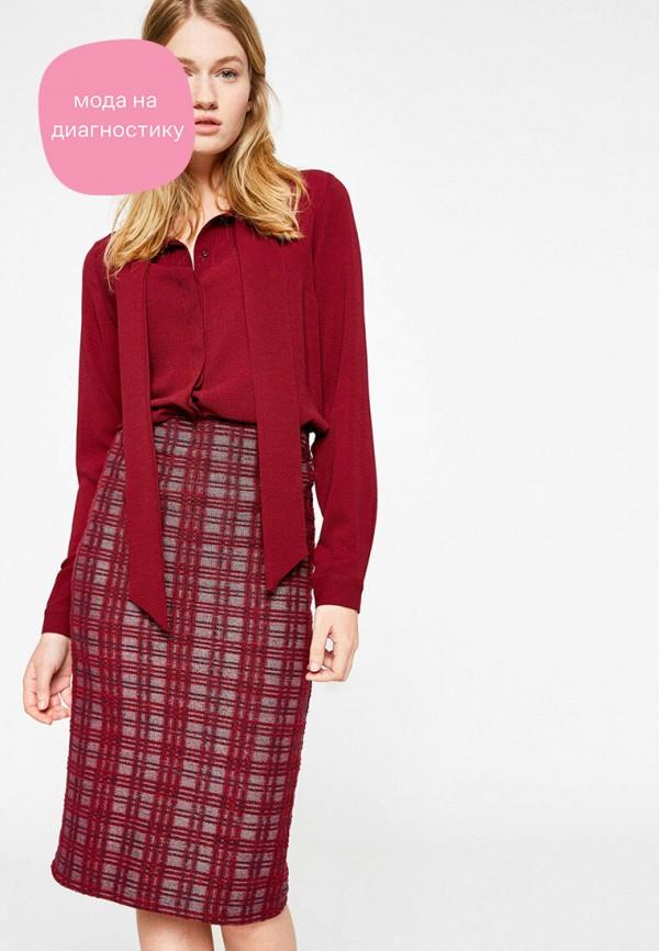 женская блузка с длинным рукавом koton, бордовая