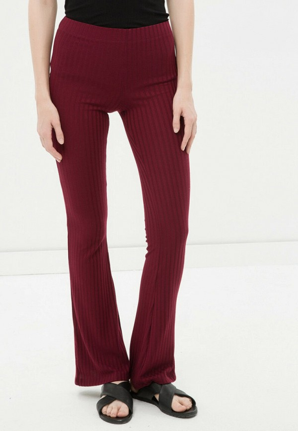 женские повседневные брюки koton, бордовые