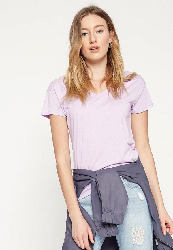 женская футболка koton, фиолетовая