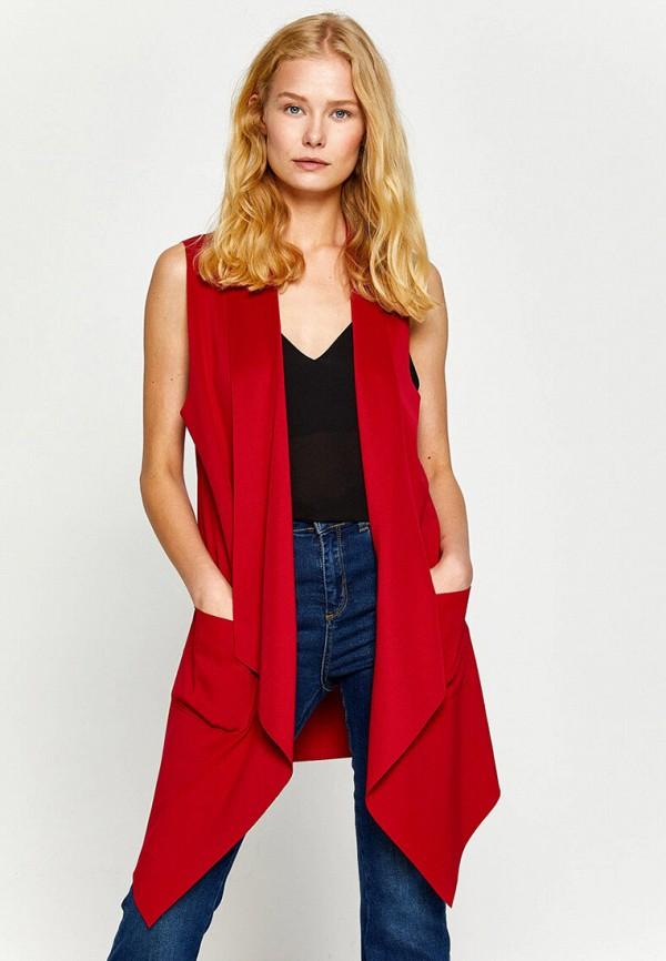женский жилет koton, красный