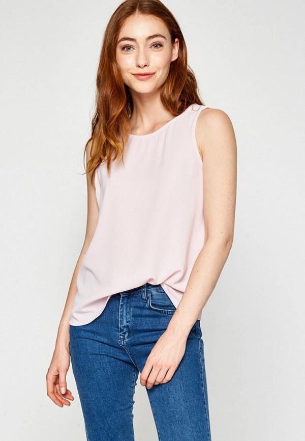 женский топ koton, розовый