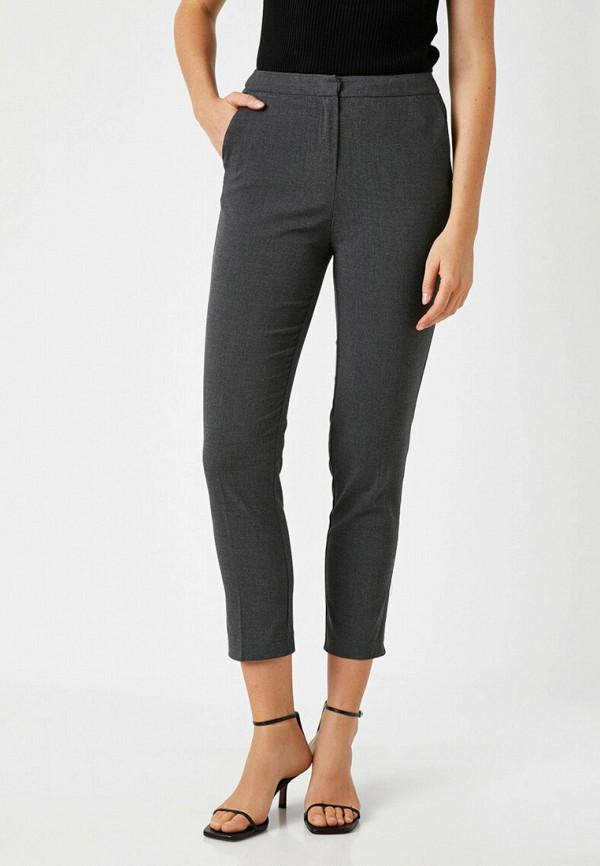женские классические брюки koton, серые