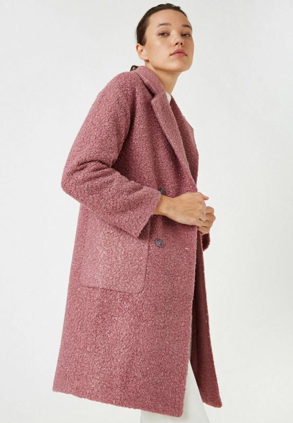 женское пальто koton, бордовое