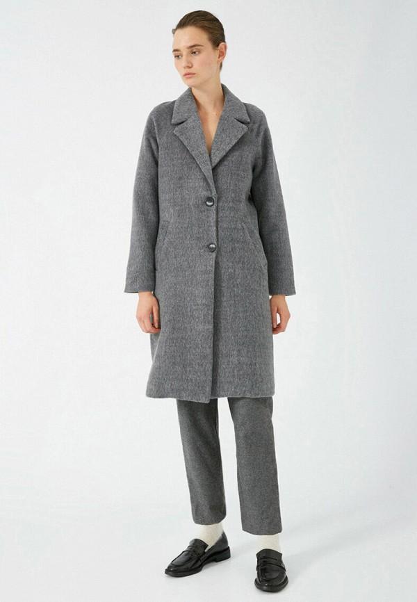 женское пальто koton, серое
