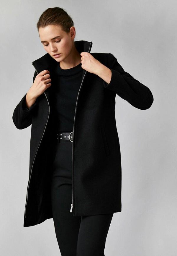 женское пальто koton, черное