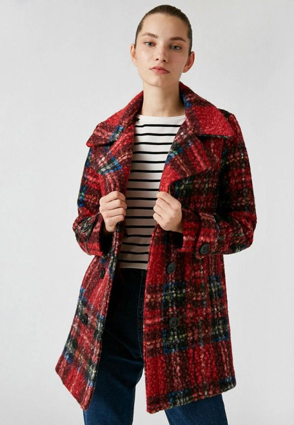 женское пальто koton, красное