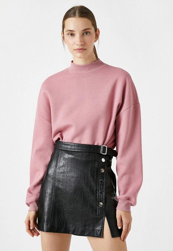 женский свитшот koton, розовый