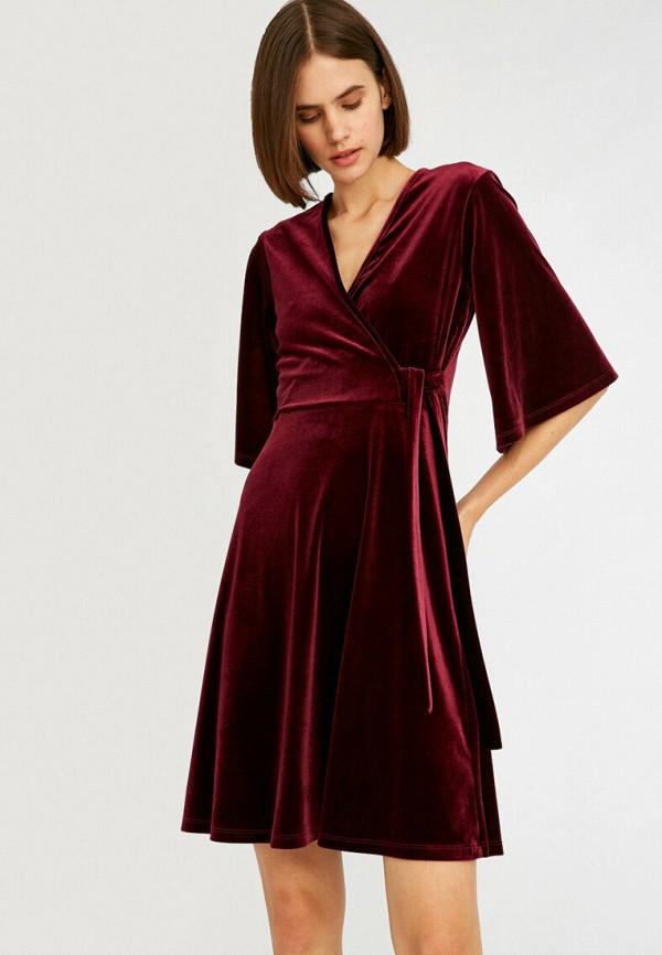женское платье koton, бордовое