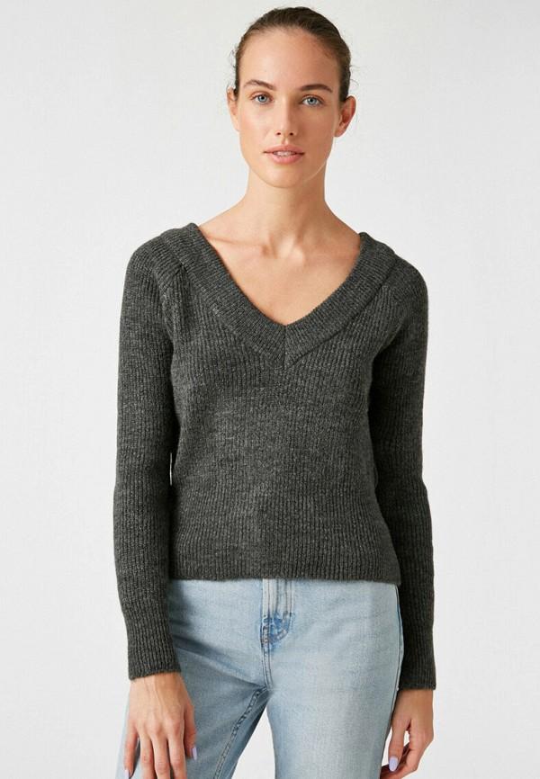 женский пуловер koton, серый