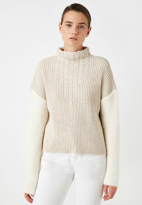 женский свитер koton, бежевый