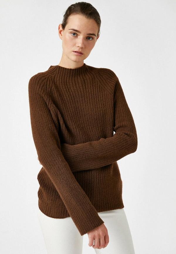 женский джемпер koton, коричневый
