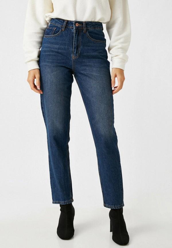 женские прямые джинсы koton, синие