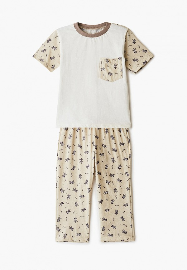 пижама котмаркот для мальчика, бежевая