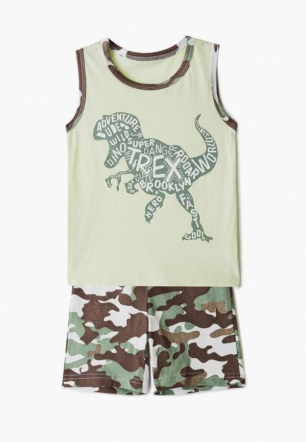 пижама котмаркот для мальчика, зеленая