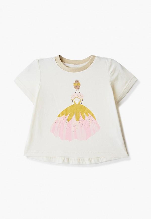 футболка с коротким рукавом котмаркот для девочки, бежевая