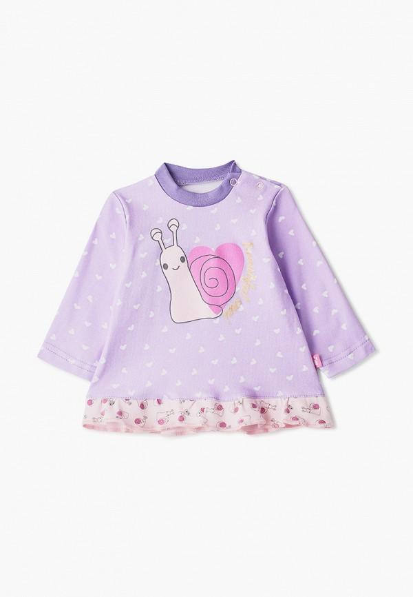 лонгслив котмаркот для девочки, фиолетовый
