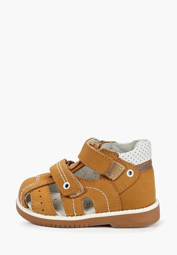 сандалии котофей для мальчика, коричневые