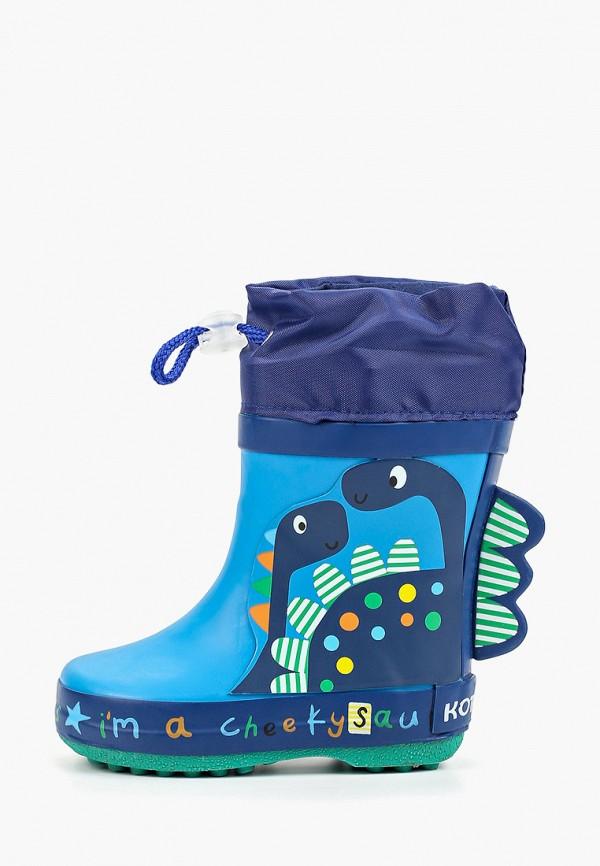 резиновые сапоги котофей для мальчика, голубые