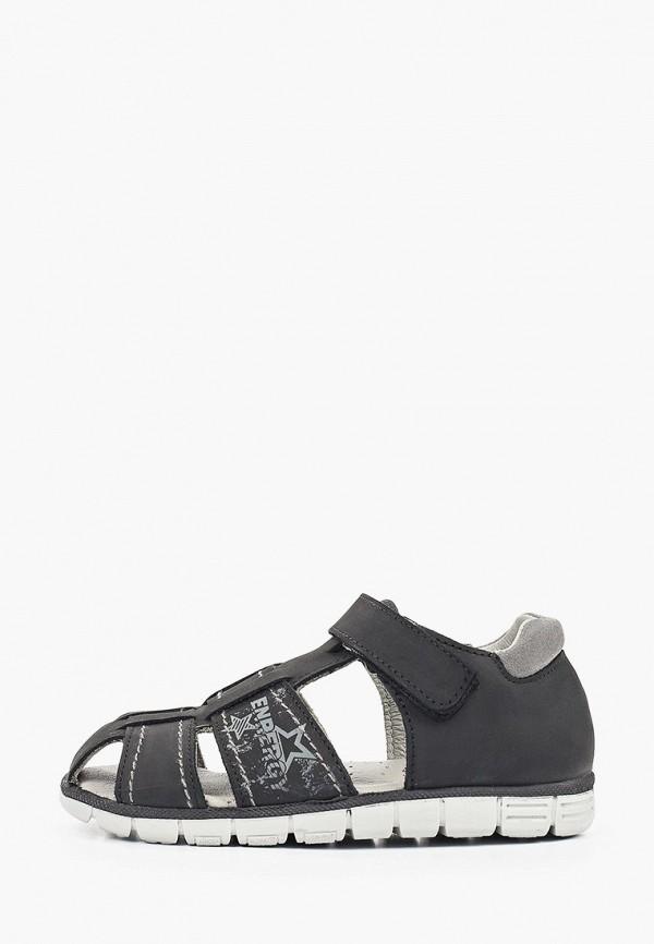 сандалии котофей для мальчика, черные