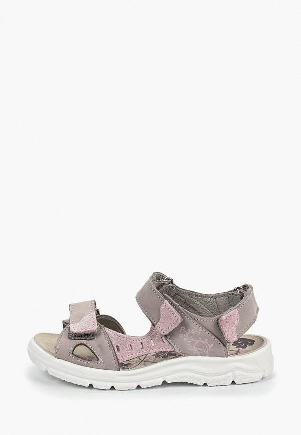 сандалии котофей для девочки, серые