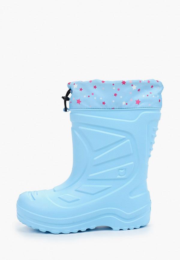 резиновые сапоги котофей для девочки, голубые