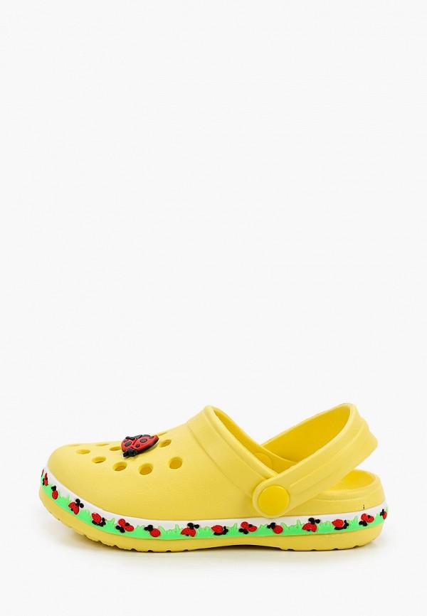 сабо котофей для девочки, желтое