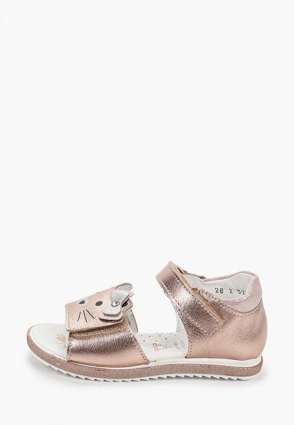 сандалии котофей для девочки, золотые