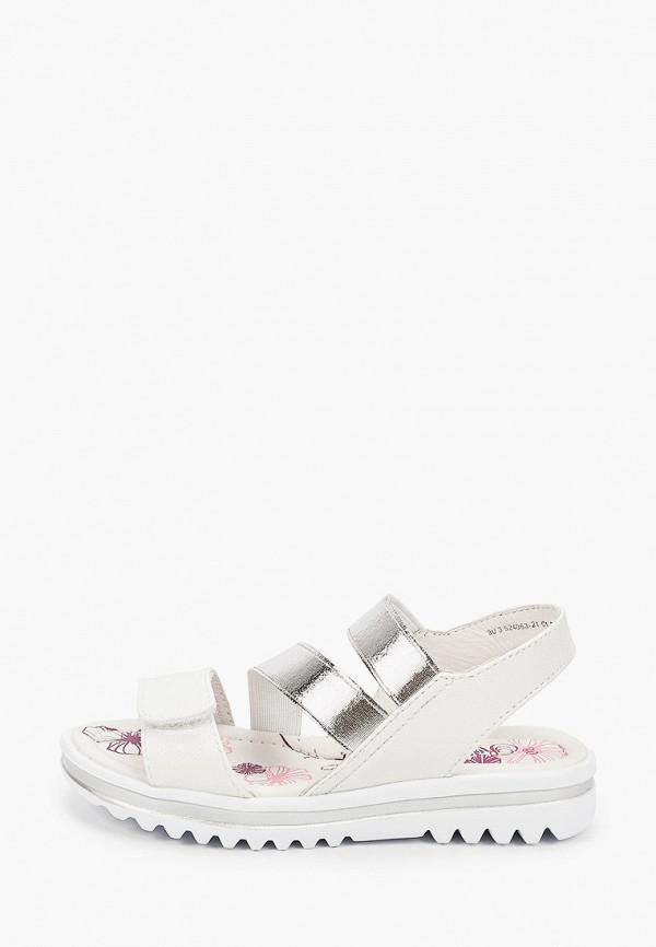 сандалии котофей для девочки, серебряные