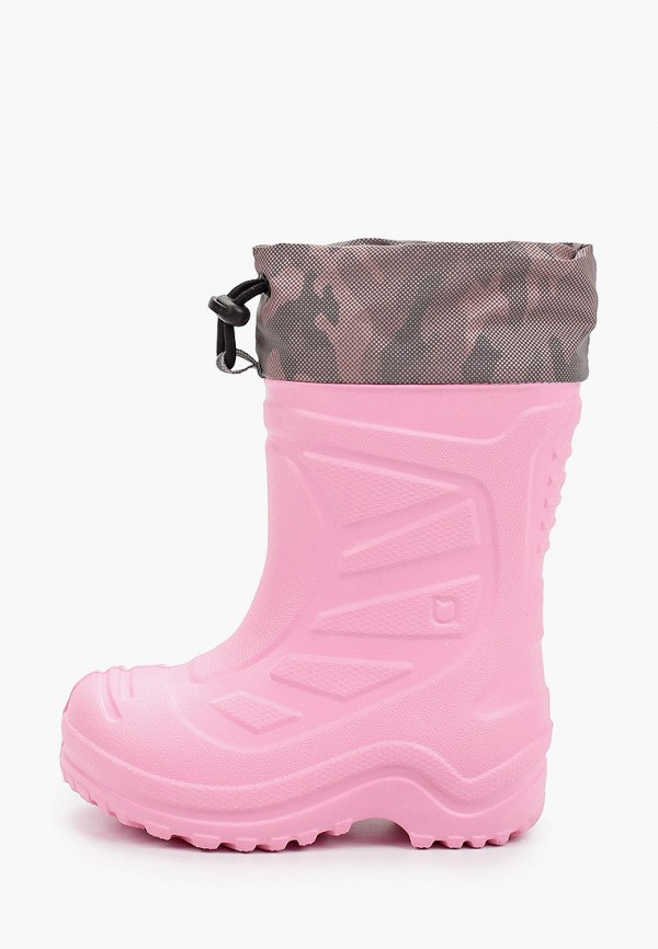 резиновые сапоги котофей для девочки, розовые