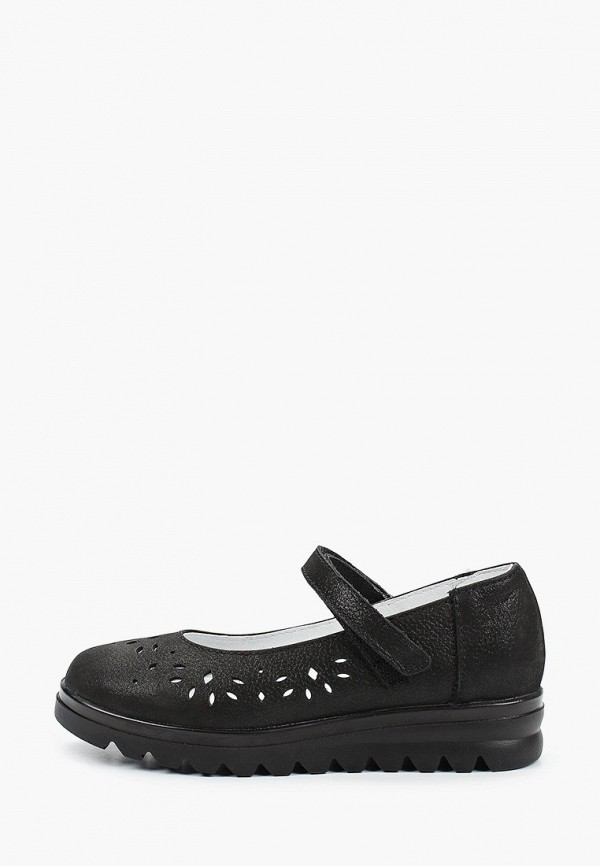 туфли котофей для девочки, черные