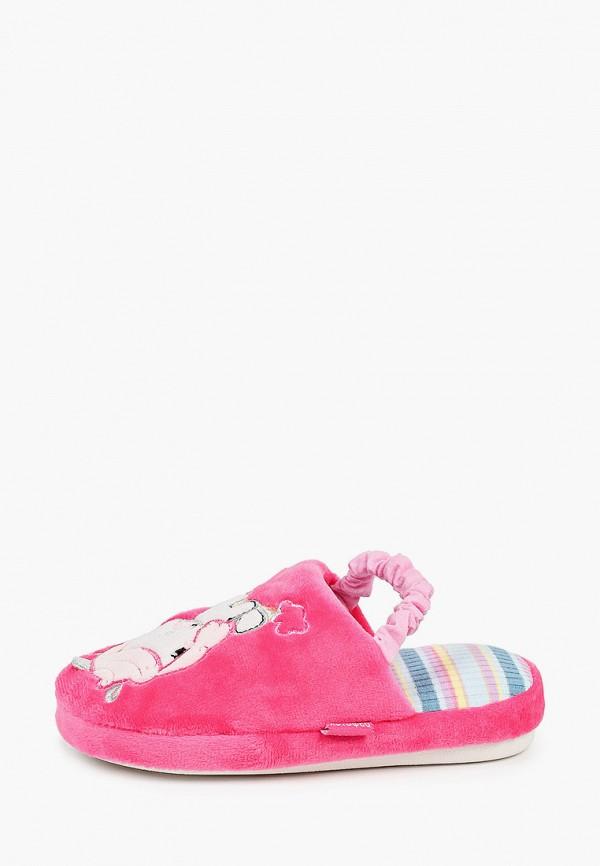 тапочки котофей для девочки, розовые