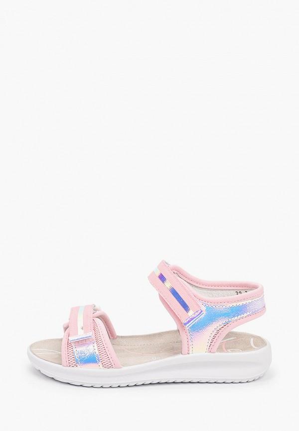 сандалии котофей для девочки, розовые
