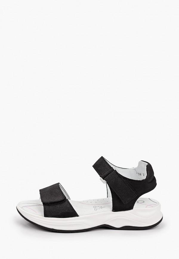 сандалии котофей для девочки, черные