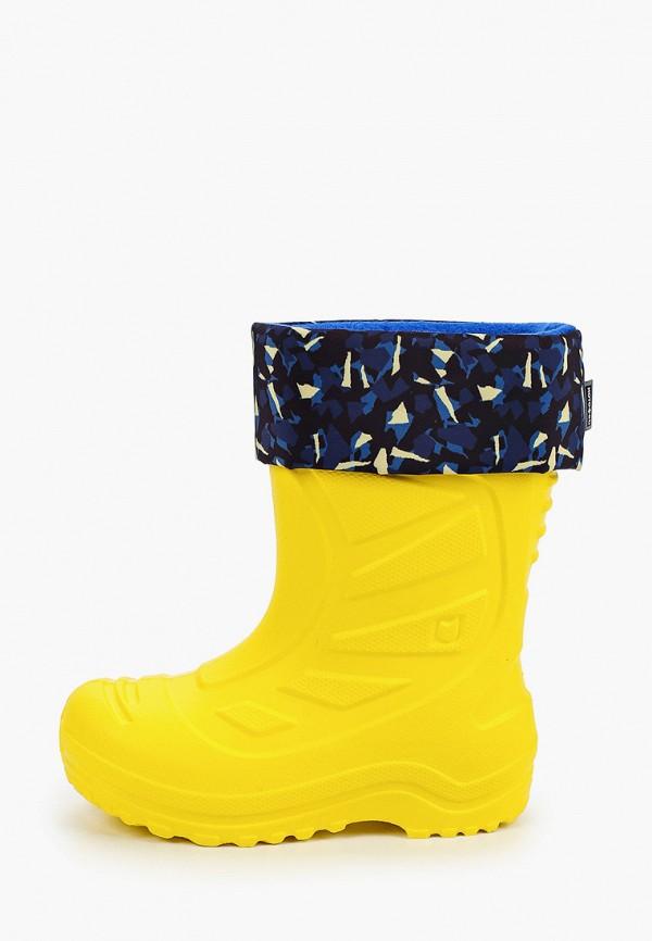 резиновые сапоги котофей малыши, желтые