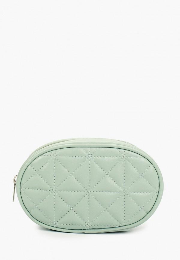 поясные сумка котофей для девочки, зеленая