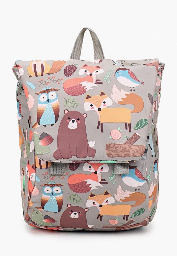 рюкзак котофей для девочки, серый