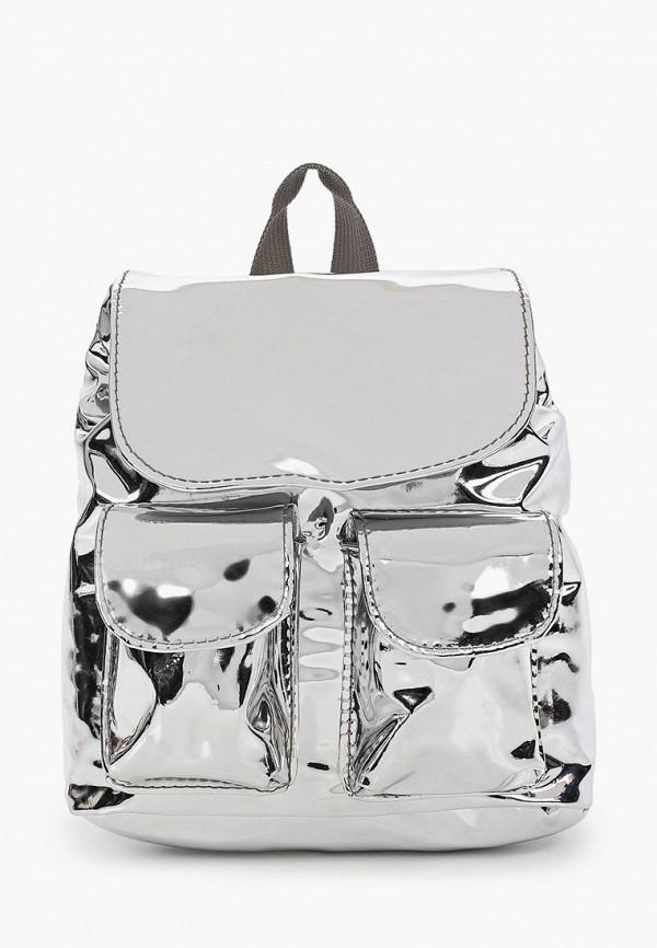 рюкзак котофей для девочки, серебряный