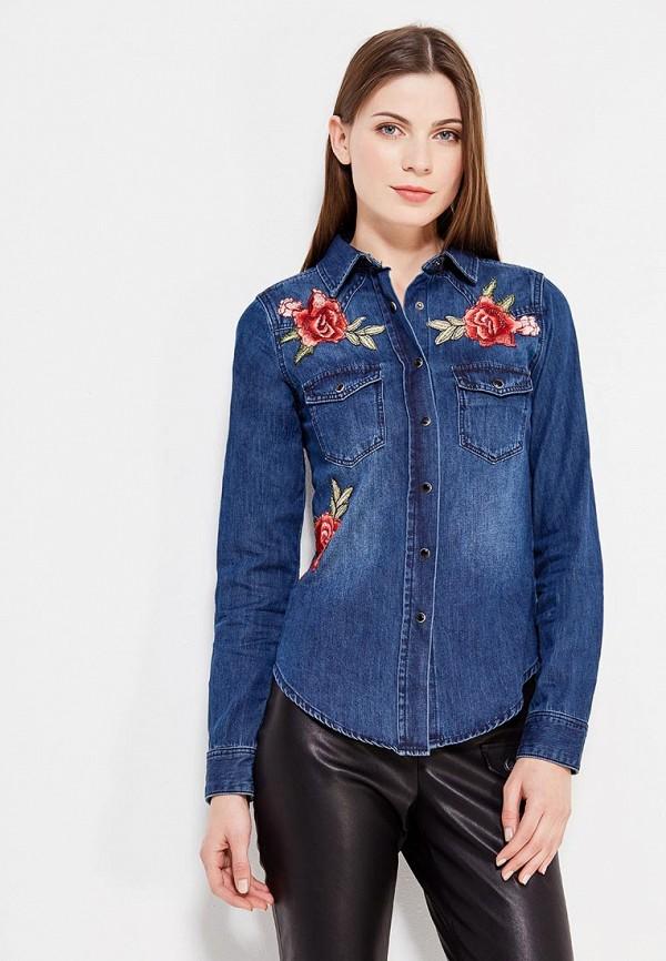 Купить Рубашка джинсовая Koralline, ko013ewzcw75, синий, Осень-зима 2017/2018