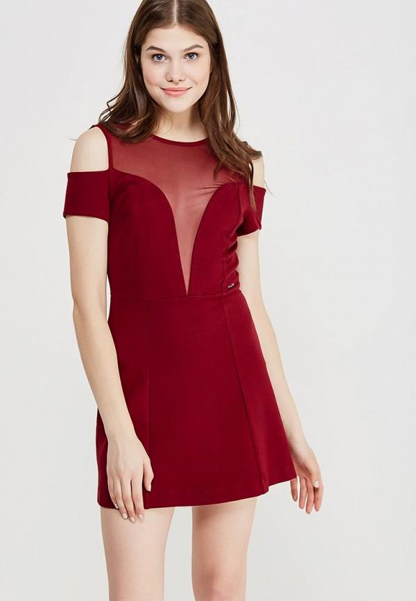 Купить Платье Koralline, ko013ewzcw78, бордовый, Осень-зима 2017/2018