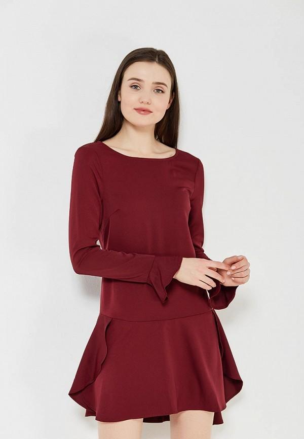 Купить Платье Koralline, KO013EWZCW94, бордовый, Осень-зима 2017/2018